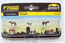 N scale six horses various sizes