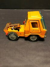 Line die cast orange dump truck