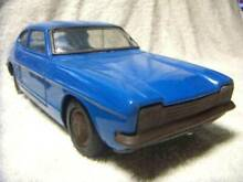 Ford capri blue car tin toy 28cm