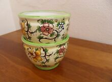 Pair of planters floral pattern