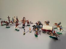 Plastic cowboys and indians lot