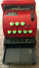 Ben franklin red tin cash register