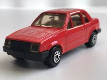1986 ford escort 1 6i in red no28