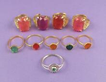 Selection of 10 c s toy rings old