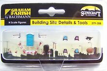 N scale building site details tools