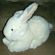 Bounce bunny rabbit white soft 8in