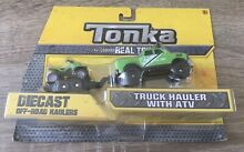 Tonka vehicle set truck hauler atv