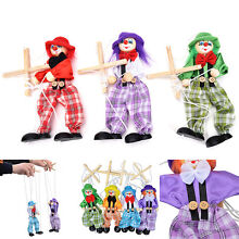 Pull string puppet wooden