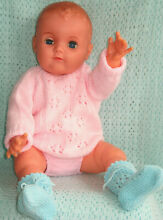 Pram doll 24 baby clothes frilly