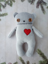7 plush bear handmade creepy cute