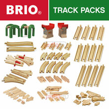 Wooden railway track all train set