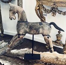 Beautiful timber horse sculpture on