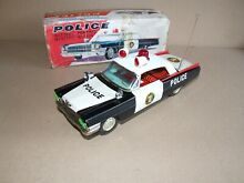Mystery action tinplate police car
