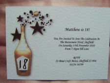BIRTHDAY INVITATIONS PERSONALISED 18TH 21ST 30TH+ GCBx5