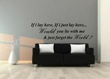 If I lay here Lyrics snow Patrol Chasing Cars Wall sticker  Wall Decals Stickers