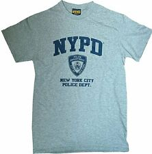 NYPD GRAY NAVY LOGO BADGE NEW YORK POLICE DEPARTMENT T-SHIRT MEN UNISEX