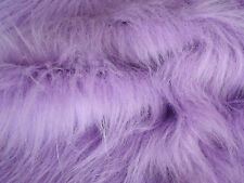 LONG Pile Fun Faux Fur Fabric Material - LILAC