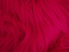 LONG Pile Fun Faux Fur Fabric Material - MAGENTA