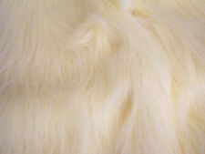 LONG Pile Fun Faux Fur Fabric Material - TOFFEE CREAM