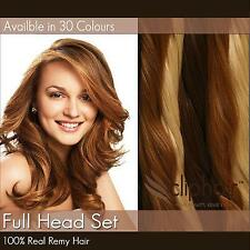 Full Head Premium Clip in  Human Hair Extensions