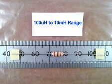 Ferrite Cored RF Coil, Leaded RFC Inductor Choke, Inductance Range 100uH to 10mH