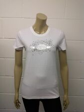 Womens Puma T-Shirt Top White - Silver Flower Print Size 8 - 16 Ladies A42