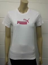 Womens Puma T-Shirt Top White - Pink Dot Print Size 6 - 16 Ladies A43