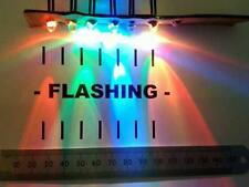Qty 10 : 5mm Flashing LED for 12V, Ten Items Pre-Wired LEDs Various Colours