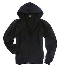 MENS PLAIN BLACK ZIP UP HOODY hooded cotton sweatshirt Gents sizes S-XXL
