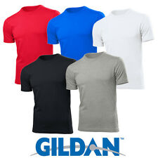 5 PACK OF COTTON MENS GILDAN SOFT STYLE T SHIRTS WHITE BLACK RED SUMMER NEW