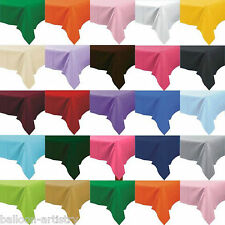 Plastic Tablecover Table Cloth Party Supplies Tableware 23 Colours One Listing