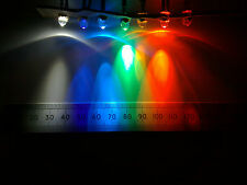 Qty 10 : 5mm 12V Pre-Wired LED, Clear Lens in Various Mixed Colours, Constant.