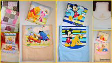 Pram Bedding Set Quilt+Pillow 4 piece, Embroidered,Hello Kitty, Thomas,Patchwork