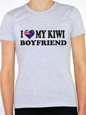 I Love My Kiwi Boyfriend - Womens Novelty T-Shirt - Various Sizes