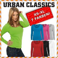 URBAN CLASSICS DAMEN LADIES BASIC LONGSLEEVE T-SHIRT TOP SHIRT 7 FARBEN
