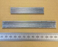 Qty 5 : 3mm Steel Gearbox Shaft / Axle for Cogs or Pulleys, 75 or 120mm Length