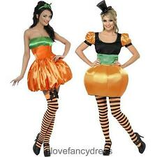 LADIES PUMPKIN FANCY DRESS COSTUME CUTE HALLOWEEN SEXY OUTFITS S M L UK 8 - 18