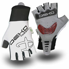 Summer fingerless gel padded cycle gloves half finger less Bike glove Track Mitt