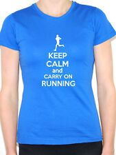 KEEP CALM AND CARRY ON RUNNING Sport / Running / Exercise Themed Women's T-Shirt