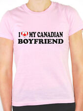 I LOVE MY CANADIAN BOYFRIEND - Valentine/Canada Maple Leaf Themed Womens T-Shirt