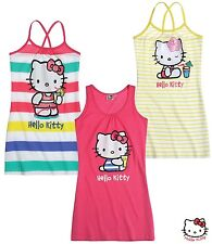 New Girls Hello Kitty Nightie Pyjamas Hello Kitty  Dress Age 3-10 Years