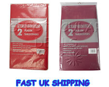 2 x Plastic Party Wedding Tableware Tablecovers Tablecloth Covers 54 X 54 Inches