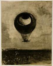 Art Print - Eye Balloon - Redon Odilon 1840 1916