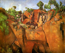 Art Photo Print - Quarry Bibemus - Paul Cezanne 1860 1908
