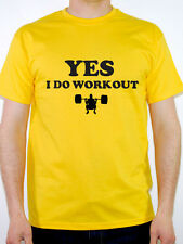 YES I DO WORKOUT - Fitness / Exercise / Humorous / Novelty Themed Mens T-Shirt
