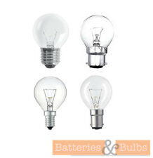 Clear Golf Ball Bulbs | Incandescent | 25W 40W 60W BC SBC SES ES | Pack of 10