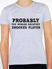 SNOOKER PLAYER - WORLDS GREATEST - Cue / Balls / Fun Themed Womens T-Shirt