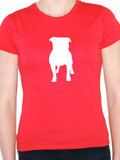 STAFFORDSHIRE BULL TERRIER SILHOUETTE - Dog / Staffie Themed Womens T-Shirt