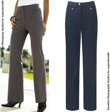 WOMENS LADIES MAGI FIT TUMMY SCULPT CONTROL JEAN STYLE TROUSERS GREY & NAVY BLUE