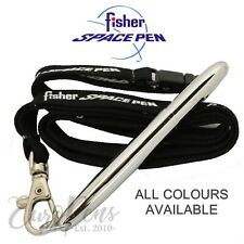 Fisher Space Pen BULLET Ballpoint Ball Pen with LANYARD Neck Strap - All Colours